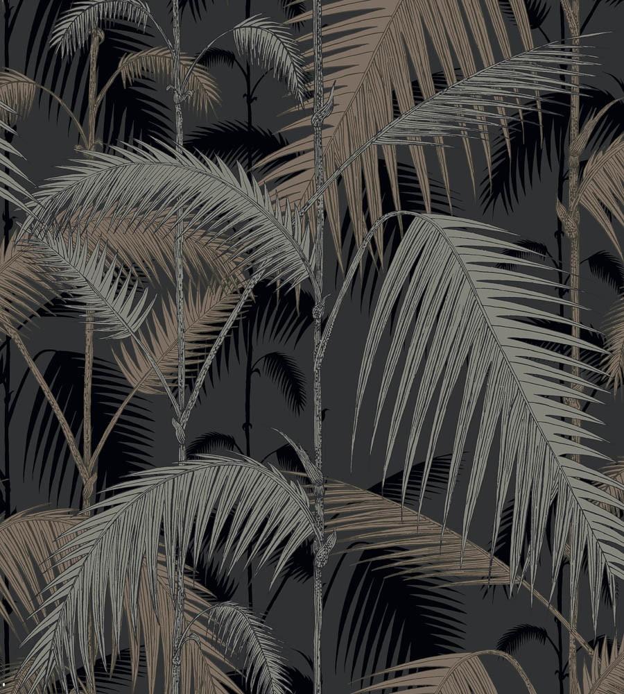 Palm Jungle - schwarz, 3 Rollen sofort verfügbar - Tapetenraum GmbH, Horgen