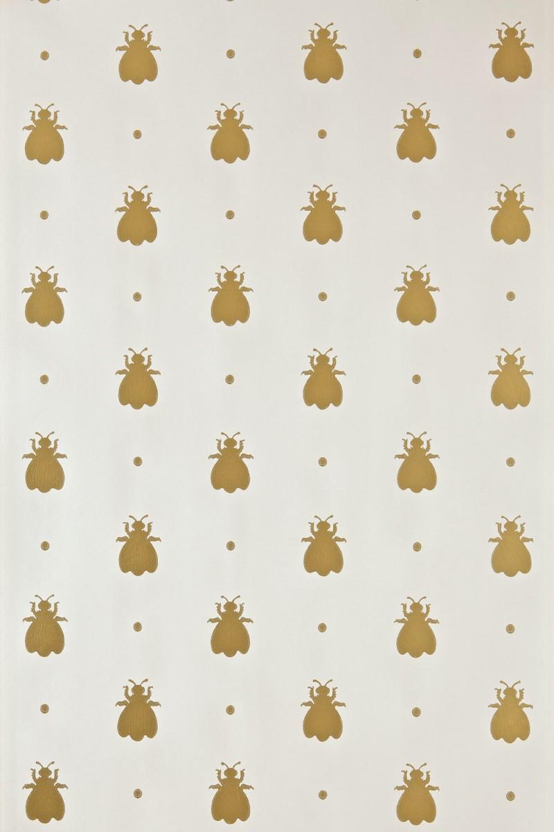 Bumble Bee - weiss/gold - Tapetenraum GmbH, Horgen