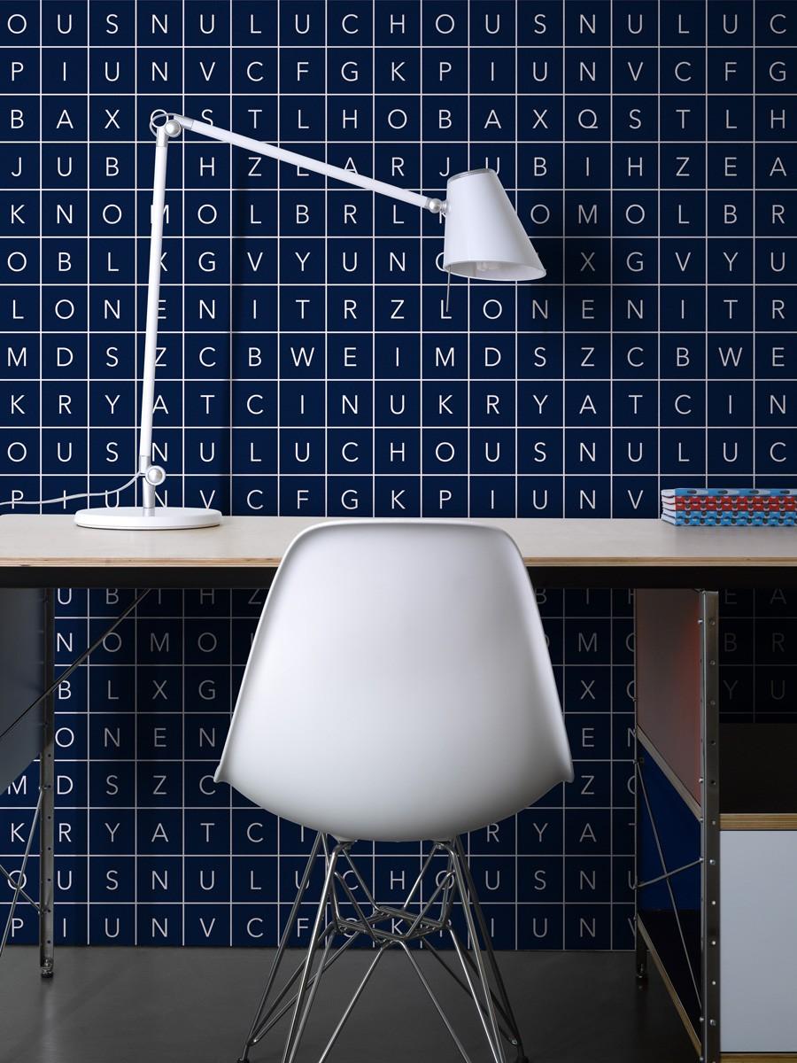 Glyphs - blau - Tapetenraum GmbH, Horgen